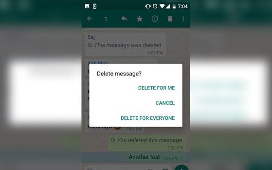 cancellare messaggi inviati whatsapp
