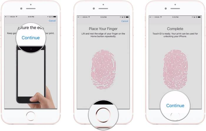 codice touch id iphone