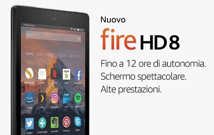 nuovo amazon kindle fire hd8
