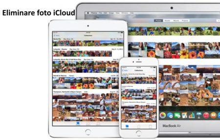 come eliminare foto icloud