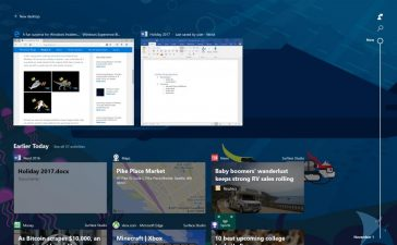 novita windows 10 sequenza temporale