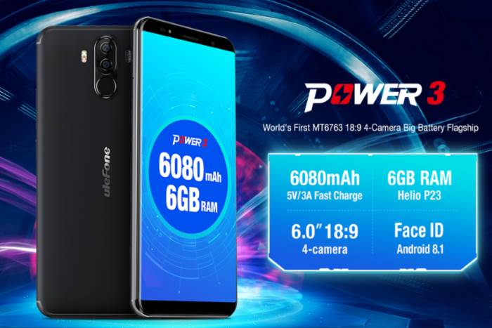 smartphone android potente ulefone power 3