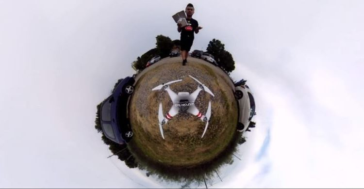 tiny planet drone
