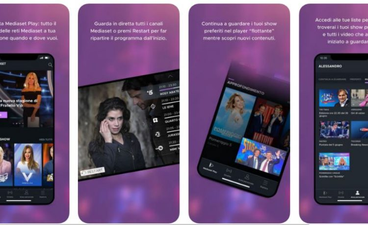 mediaset play canali tv iphone ipad