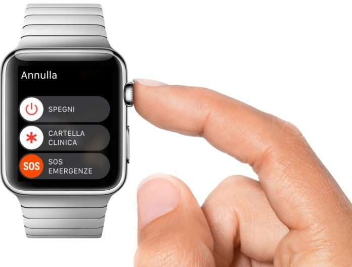 come spegnere apple watch