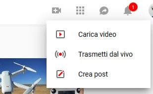 caricare video youtube
