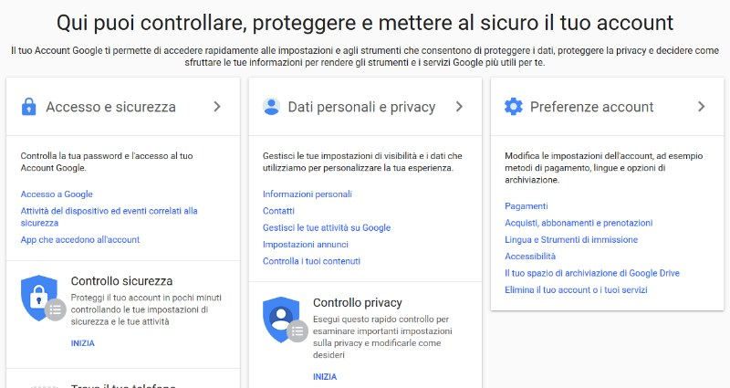 come eliminare account GOOGLE