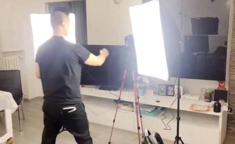 Softbox studio fotografico kit raleno con illuminazione luce