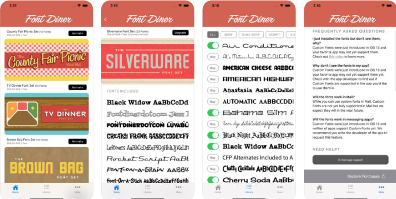 cambiare font iphone